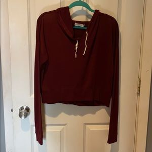 Abercrombie & Fitch crop hoodie